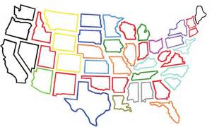 Large Outlines Of States by United States Outlines