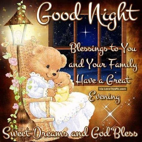 goodnight blessings to you and your family pictures