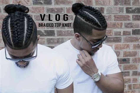 how to cut hair for a top knot male fresh cut new style braids samurai top knot man bun