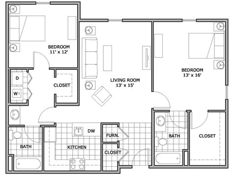 apartment plans 2 bedroom apartments two bedroom flat design plans home design