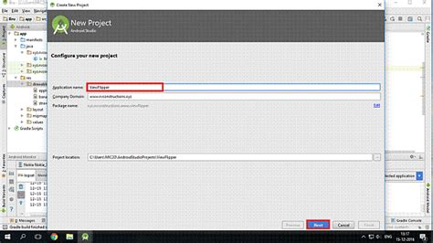 android studio requirements create a viewflipper app in android application using android studio