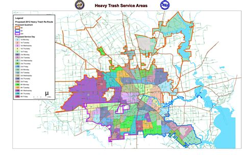 houston landfill map 2012 junk waste re route