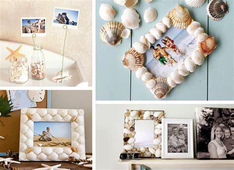 decorazioni cornici fai da te decorare con le conchiglie 27 idee originali per la casa