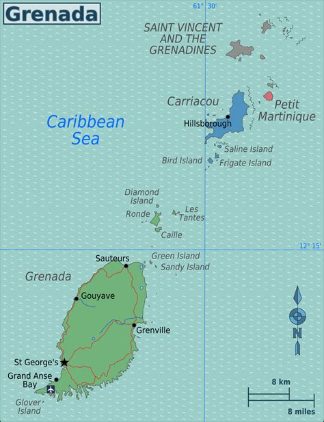 where is grenada located on a world map geography of grenada