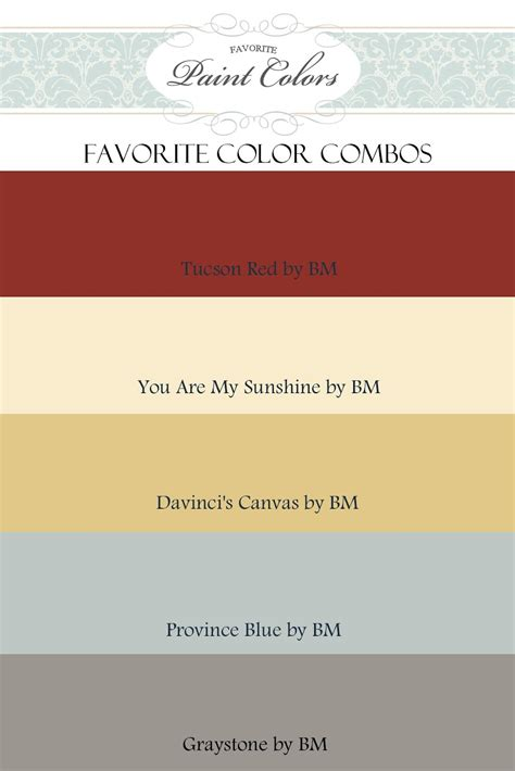 colour paint color combinations for tucson red favorite paint colors blog