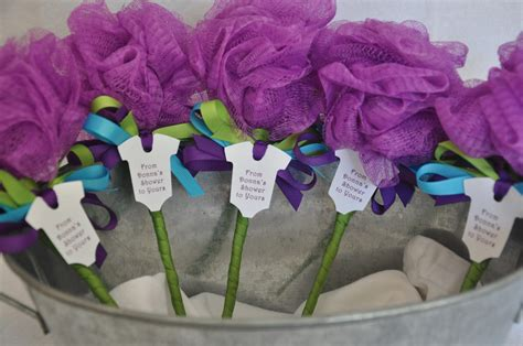 unique baby shower favor ideas unique baby shower favor purple turquoise and lime green bath