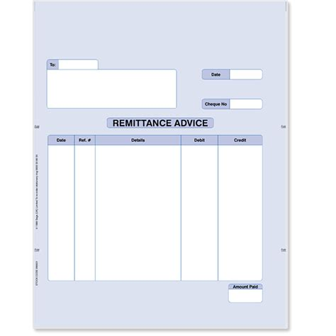 remittance slip template my
