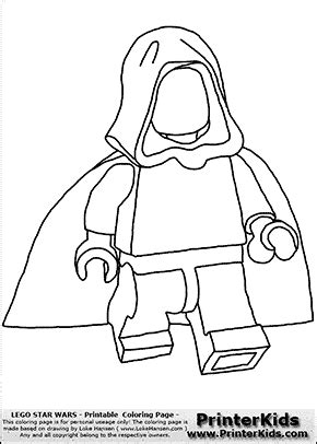 blank lego coloring pages lego star wars blank young anakin skywalker walking