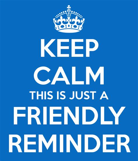 Friendly Reminder Lucky Shops by Keep Calm This Is Just A Friendly Reminder Poster Mar