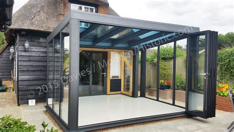 Outdoor Patio Kitchen Ideas by Contemporary Glass Extensions In Conservation Area