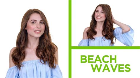 try on hairstyles garnier diy beach waves how to make a quick and easy hairstyle