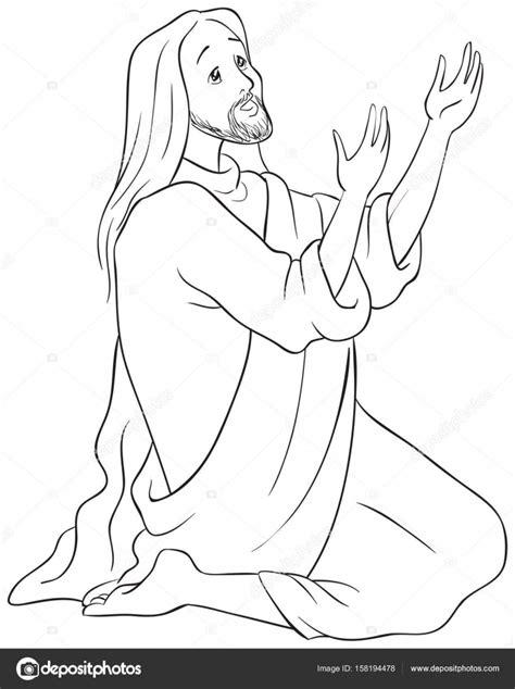 imagenes blanco y negro de jesucristo jes 250 s arrodillado en oraci 243 n p 225 gina para colorear