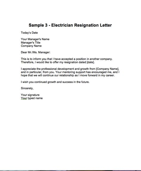 how to write a cover letter for electrician apprenticeship resignation letter for post of electrician http