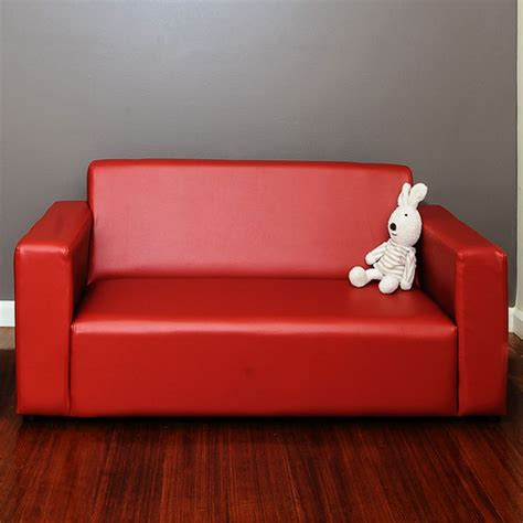 childrens leather sofa kids pvc leather 2 seater sofa couch in red buy kids sofas