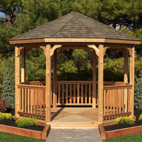 yardcraft  ft    ft  solid wood patio gazebo