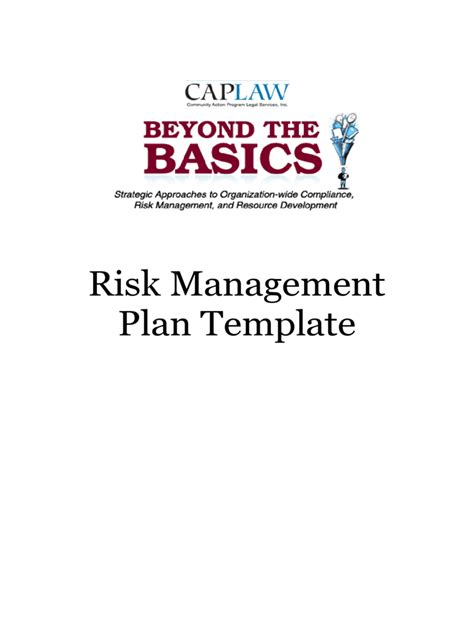 risk management plantemplate 6 free templates in pdf