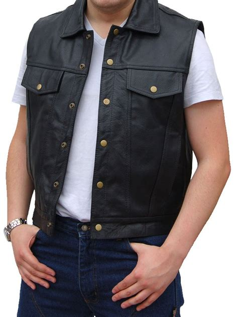 leather waistcoat jts 503 leather cowhide waistcoat free uk delivery
