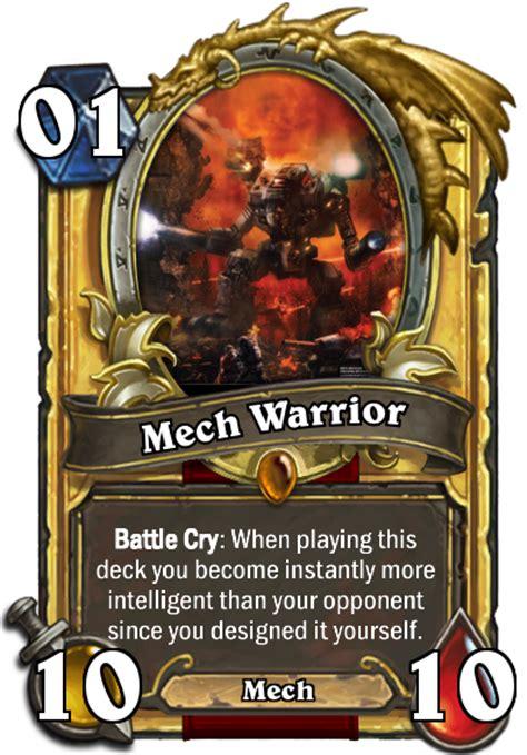 Warrior Deck Hearthstone by Mech Warrior S15 Legend Hearthstone Decks