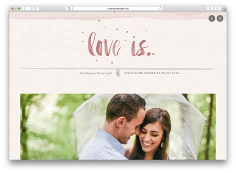Couples Website 10 Real Couples Wedding Websites Get Inspired Now