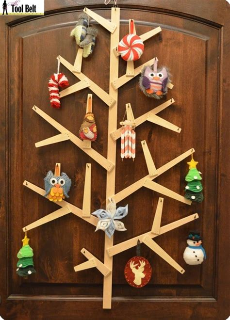 christmas woodworking ideas wooden wall tree