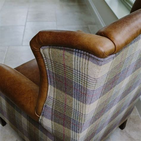 armchairs checked fabric armchairs tweed fabric and wings on pinterest