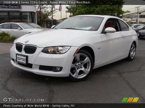 2008 bmw 328xi coupe alpine white 2008 bmw 3 series 328xi coupe coral