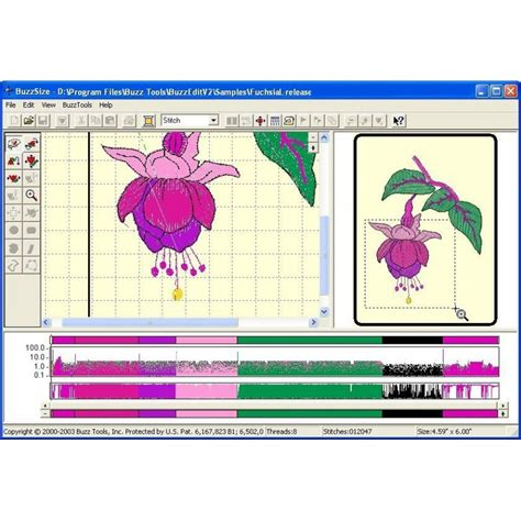 embroidery design resize buzztools buzzsize embroidery design resizing at its best