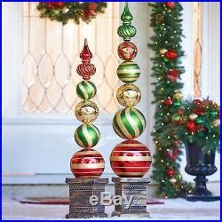 outdoor christmas topiary ideas oversized outdoor ornament finial topiary porch yard decor 2 sizes decor world