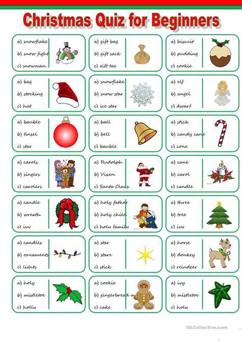 printable christmas english games christmas vocabulary quiz worksheet free esl printable