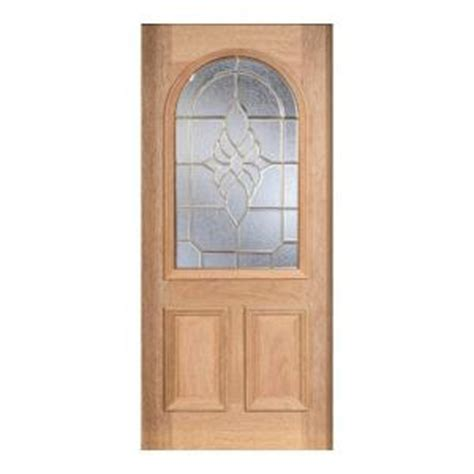 door mahogany type unfinished beveled brass roundtop