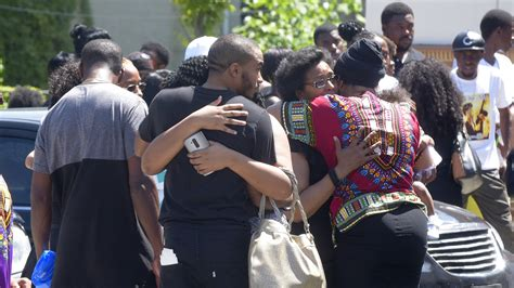 mourners including attend funeral for korryn