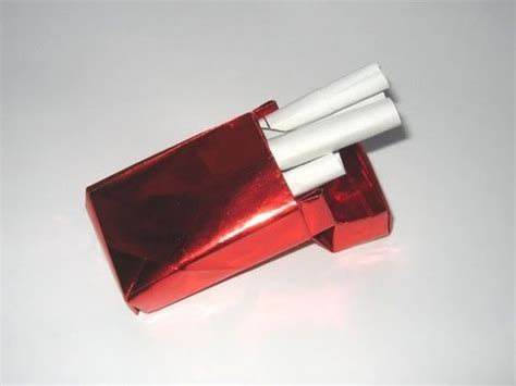 How To Make Paper Cigarettes - origami cigarette packet by david brill part 1 of 2