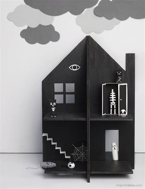 How To Make A Paper Haunted House - paper craft print fold create the chromologist