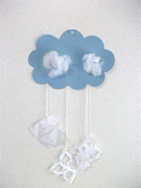 winter crafts for preschool crafts for winter snow cloud mobile craft