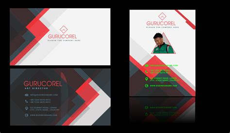 Company Id Card Template Cdr by Free Id Card Landscape Portrait Guru Corel