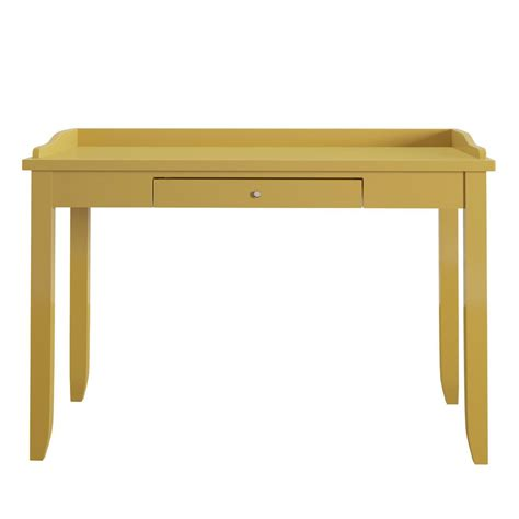 Yellow Writing Desk by Homesullivan Ingrid Yellow Writing Desk 40862 15y The
