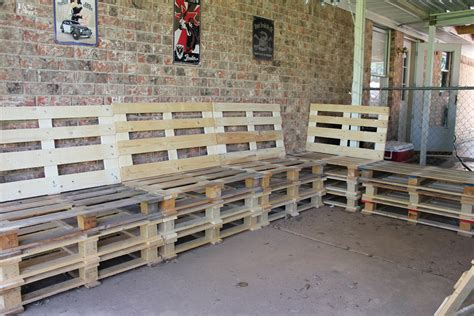 How To Make Pallet Furniture by Outdoor Furniture From Pallets Home Garden Design