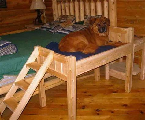 elevated dog bed with stairs raised dog bed with stairs diy raised dog bed with stairs