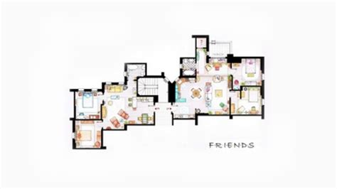 friends floor plan design interior apartments friends tv series floor plans