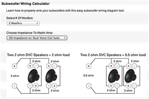 wiring diagram for two four ohm subs images wiring