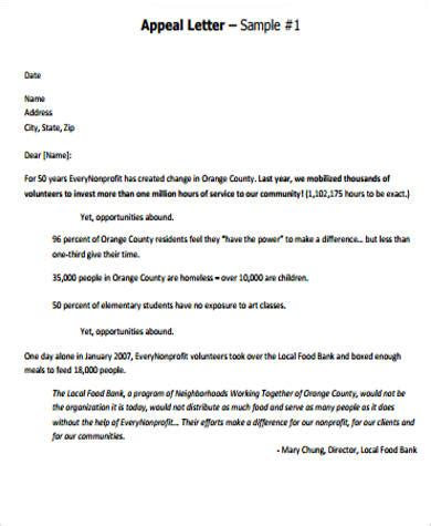 sample appeal letter templates ms word