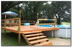 decorating around above ground pool above ground pool with deck around it decks home