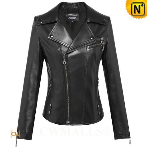 black moto jacket womens black leather moto jacket cw650016