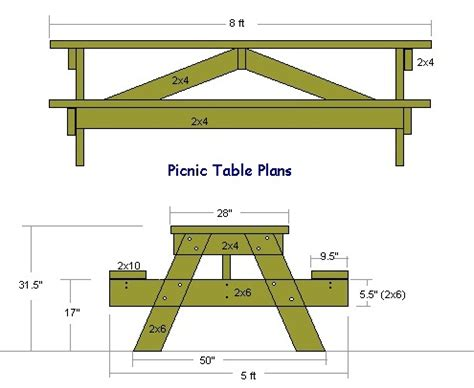 wooden picnic tables plans  instructions guide