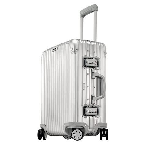 topas cabin trolley rimowa topas cabin trolley multiwheel 56 aluminium