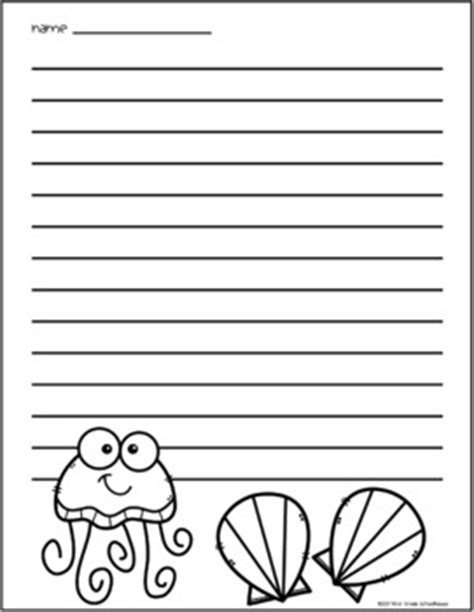 printable writing paper summer summer writing paper by first grade schoolhouse teachers
