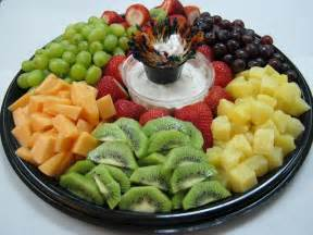 easy fruit tray idea with melon pineapple grapes