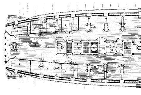 hms victory deck plans free hms victory coloring pages