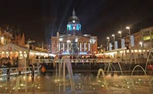 nottingham s christmas lights switch on old market square