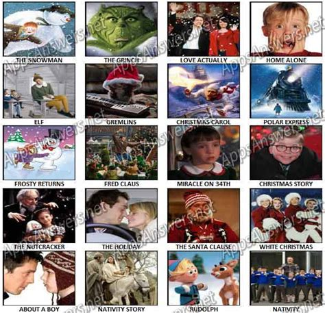 christmas film quiz answers 100 pics christmas films answers apps answers net
